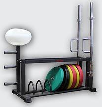 CFF Cross Training Bar and Bumper Storage Rack w/Chalk Bowl