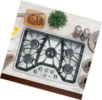 """CGP350SETSS 30"""" Built-In Gas Cooktop With 5 Sealed Burners"""