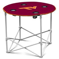 NCAA VA Tech Hokies Round Tailgating Table