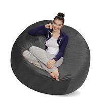 Sofa Sack - Bean Bags Bean Bag Chair, 5-Feet, Charcoal