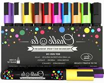 Chalkola Chalk Markers & Metallic Colors - Pack of 16 chalk