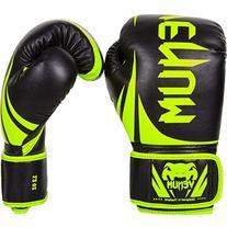 Venum Challenger 2.0 Boxing Gloves, 14 oz, Black/Neo Yellow