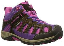 Merrell Chameleon Mid WTPF Hiking Boot ,Brown/Pink,3 W US