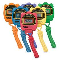 "Champion Sports Stopwatch , Assorted, 2 x 3"" Item #910 Set"