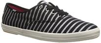 Keds Women's Champion Zip Zipper Fashion Sneaker, Black, 10