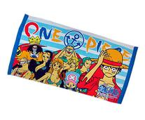 One Piece Character Line Up Blue and White Striped Beach/
