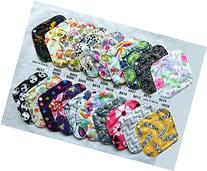 6 Pieces 8 Inch Charcoal Bamboo Mama Cloth/ Menstrual Pads/