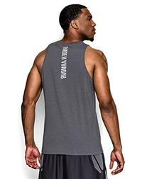 Under Armour Men's Charged Cotton Jus Sayin Too Tank, Carbon