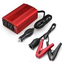 BESTEK Dual 110V AC Outlets 300W Power Inverter with 3.8ft