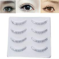 4 Pairs Charming Under Lower False Eyelashes Black Lashes