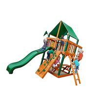 Chateau Tower Swing Set with Amber Post