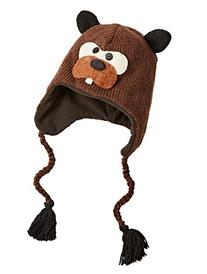 Nirvanna Designs CHBEAVER Beaver Hat with Fleece , Chocolate