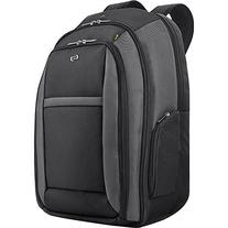 "Solo Pro 16"" Laptop Backpack, Removable Sleeve, Black/Grey"