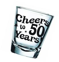 BigMouth Inc Cheers to 50 Years Shot Glass