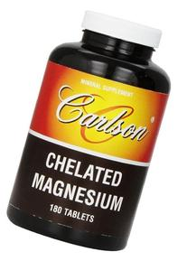 Carlson Chelated Magnesium 200mg, 180 Tablets