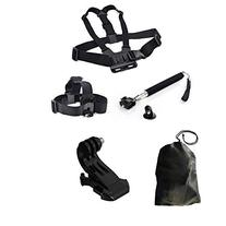 Dazzne® Chest Harness & Head Strap Mount & Monopod Tripod
