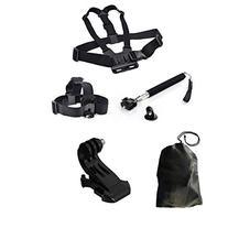 Dazzne® Chest Harness & Head Strap Mount & Monopod Tripod