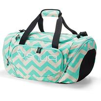 Runetz - Chevron Hot TEAL Blue Gym Bag Sport Shoulder Bag