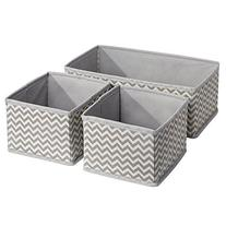 InterDesign Chevron Fabric Closet/Dresser Drawer Storage