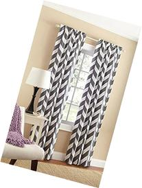 Mainstays Chevron Polyester/Cotton Curtain Panels, Set of 2