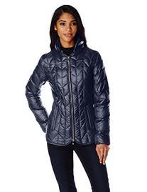 Women's Via Spiga Chevron Quilted Packable Down Jacket, Size