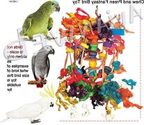 Chew & Preen Fantasy Bird Toy - for the SERIOUS Chewers &
