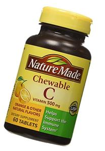 Nature Made Chewable Vitamin C 500mg, 60 Tablets