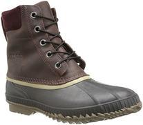 Sorel Men's Cheyanne Lace Full Grain Rain Boot,Madder Brown/