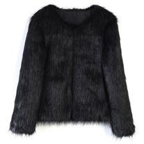 Chicwish My Chic Faux Fur Coat in Black