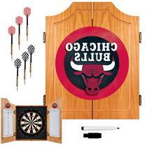 Chicago Bulls NBA Wood Dart Cabinet Set