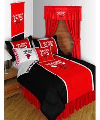 NBA Chicago Bulls 5pc Long Curtain-Drapes Valance Set