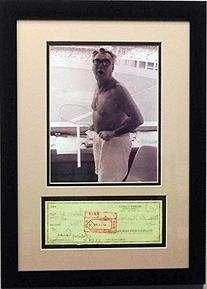 Chicago Cubs Harry Caray Signed Cancelled Check with Photo
