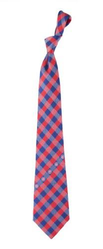 Chicago Cubs MLB Check Poly Necktie