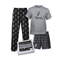 adidas Chicago White Sox Boys 3-pc. Pajama Set