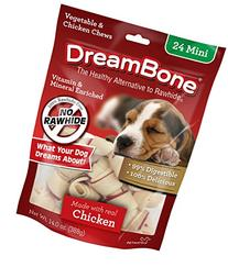 DreamBone Chicken Dog Chew, Mini, 24 pieces/pack