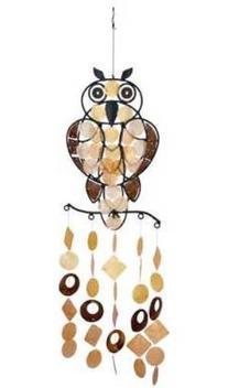 Woodstock Asli Arts Collection, Owl Capiz Chime
