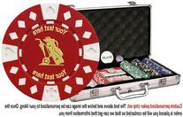 Custom Poker chip Set: Golf image & your custom text printed