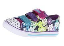 Skechers Kids 10480L Chit Chat Light-Up Sneaker ,Denim/Multi
