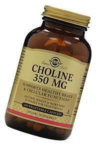 Solgar – Choline 350 mg, 100 Vegetable Capsules