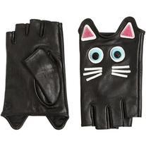 Karl Lagerfeld Women Choupette Leather Fingerless Gloves