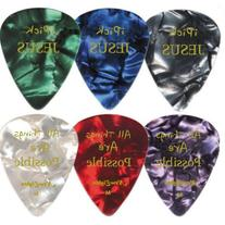 Christian i Pick Jesus Guitar Picks - 12 Pack Celluloid