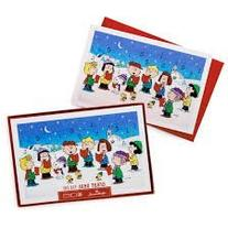 Hallmark Christmas Boxed Cards PX 3984 The Peanuts Gang