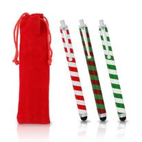 Chromo Inc Christmas Classic Candy Cane Stylus Set. 3 Pack