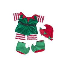 "Christmas ""Elf"" Outfit Teddy Bear Clothes Outfit Fits Most"