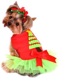 Anit Accessories 20-Inch Christmas Tree Dress Dog Costume,