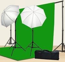 Chromakey Green Screen Kit 800w Photo Video Lighting Kit
