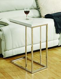 Monarch Specialties I 3008, Accent Table, Chrome Metal,