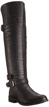 Madden Girl Women's Chrysler Equestrian Boot,Black,6 M US