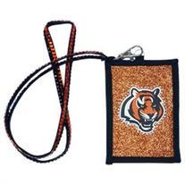 Cincinnati Bengals Official NFL Beaded Lanyard Wallet by