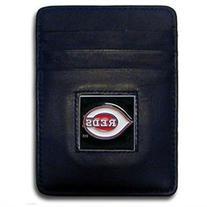 MLB Leather Money Clip/Cardholder in Gift Box - Cincinnati